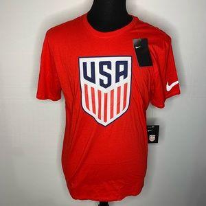Nike Team USA Soccer Men's Red Graphic T-Shirt